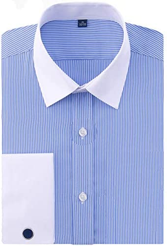 メンズワイシャツ 長袖 ダブルカフノーマルサイズ金属 カフスボタン