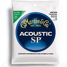 Martin MSP4600 Phosphor Bronze 12-String Acoustic Guitar Strings, Extra Light
