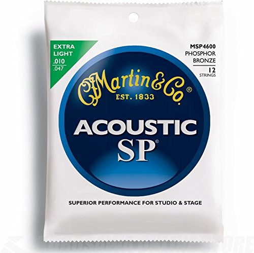 (Martin SP Acoustic 12-String Set: Phosphor Bronze Guitar Strings Extra Light MSP4600 .010 -)