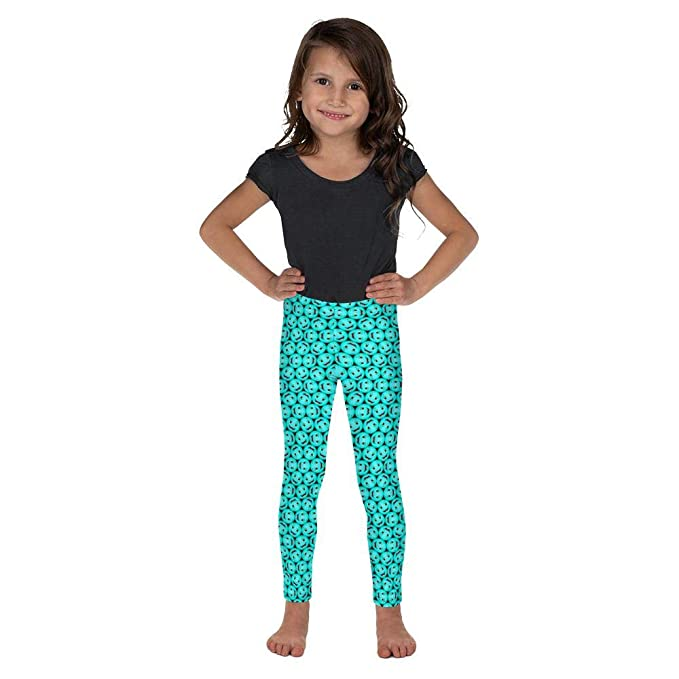cb602e4fd Image Unavailable. Image not available for. Color: Bubblelingo Happy Aqua Little  Girls' Leggings