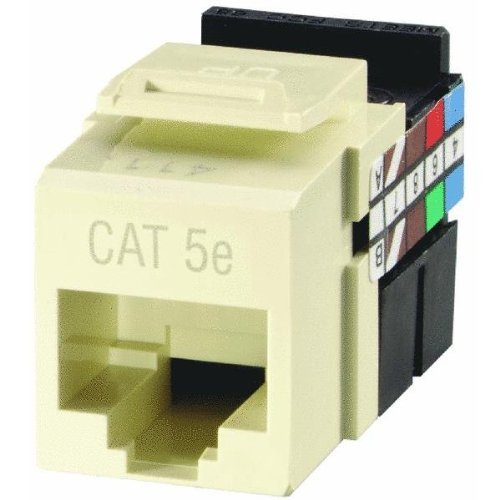 - Leviton R27-5G108-00A GigaMax 5e Quickport Connector, Almond