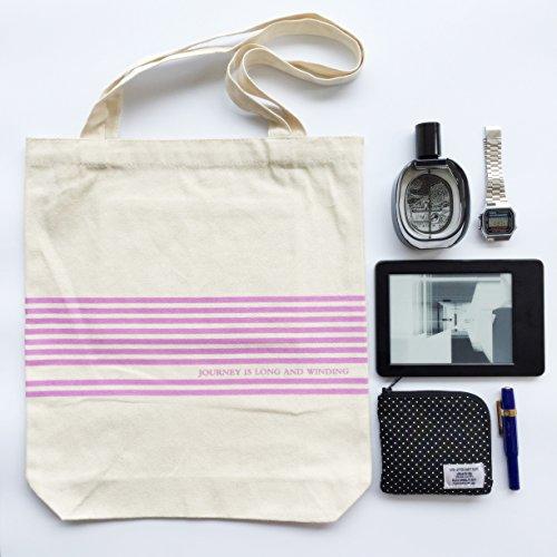 Canvas Tote Tasche Schultertasche Strandtasche Einkaufstasche Pink Streifen