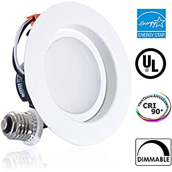 sunco lighting 11w 4inch energy star ullisted dimmable led recessed lighting fixture