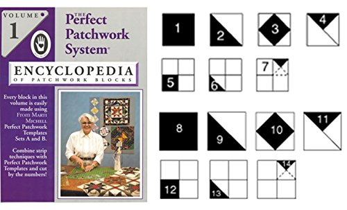 Marti Michell Quilting Template Set for Perfect Patchwork Quilt Blocks, 3 Items: Volume 1 Quilting Book, Template Sets A and B