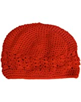 A Girl Company Red Crochet Beanie Hat for Baby and Girl
