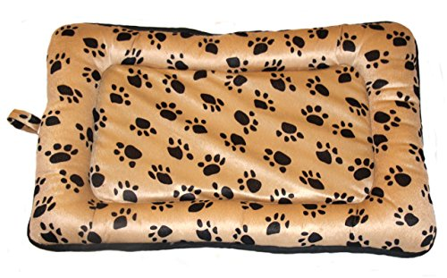 Premiere Brands Pet Bed Crate Pads by Soft Comfortable Top - Tough Water-Resistant Polyester Base for Cats and Dogs (Large) -