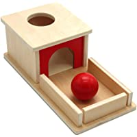 Toddmomy Montessori Object Permanence Box Wooden Toy Tray and Ball Drop Toys Hand- Eye Coordination Box Teaching Aids…