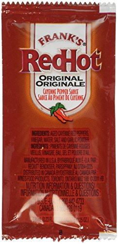 Frank's Red Hot Original Cayenne Pepper Sauce, 7-gram Pouch (Pack of 200)