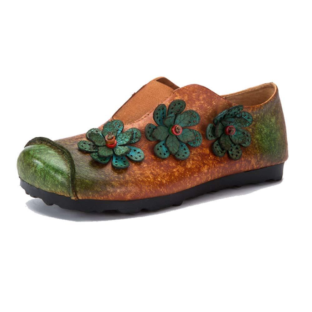 ZPEDY 11541 Brown Chaussures Fond pour Femmes, Rétro, Fond Mou, Décontracté, Confortable, Branché, Portable Brown 497d04a - boatplans.space