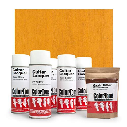 ColorTone Aerosol Finishing Set with 50s Classic Color Lacquer, TV Yellow