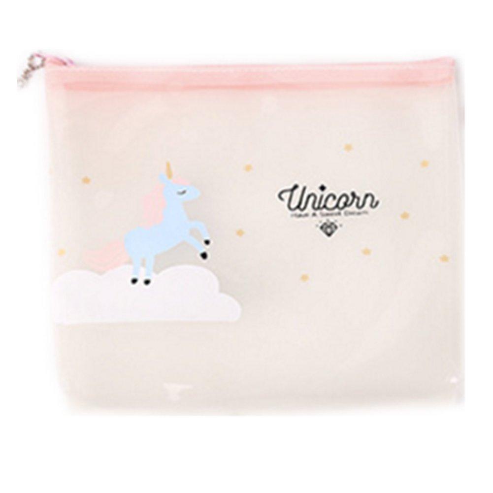 Topdo Sac cosmétique Transparent Sac de Rangement de Voyage Portable Sac cosmétique 19*18*4cm