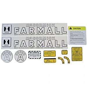 All States Ag Parts Mylar Decal Set - Farmall & Super A International Super A
