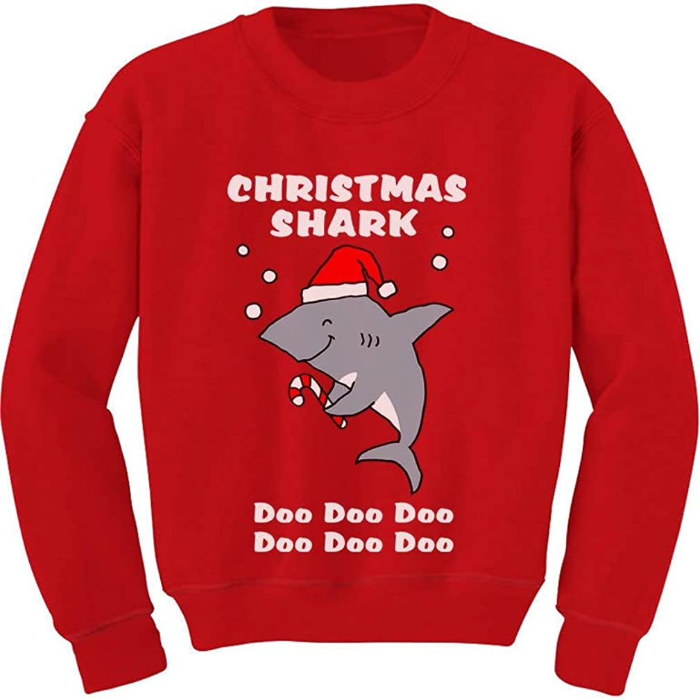 Tstars - Christmas Shark Do Do Do Cute Toddler Kids Sweatshirt