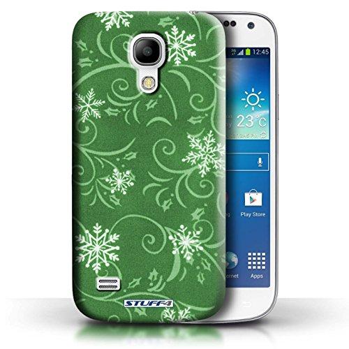 pour Samsung Galaxy S4 Mini / Vert conception / Collection de Motif flocon de neige