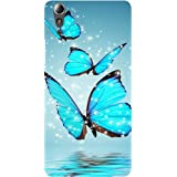 Casotec Flying Butterflies Design Hard Back Case Cover for Lenovo A6000 / A6000 Plus