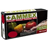 Ammex PGLOVE-500 Food Service Poly Gloves, Latex Free, Disposable, 1 mil Thickness, Powder Free, Medium, PGLOVE-M-500-BX (Box of 500)