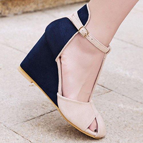Zanpa Compense blue Talon Femmes 1 Sandales Mode OzZprO