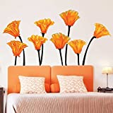 Chromantics California Poppies Watercolor Wall Decal Set - Flower Wall Decals By
