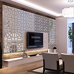 EverTrust(TM) new big 3d wall stickers decor modern acrylic living home large mirror still life surface wall sticker diy