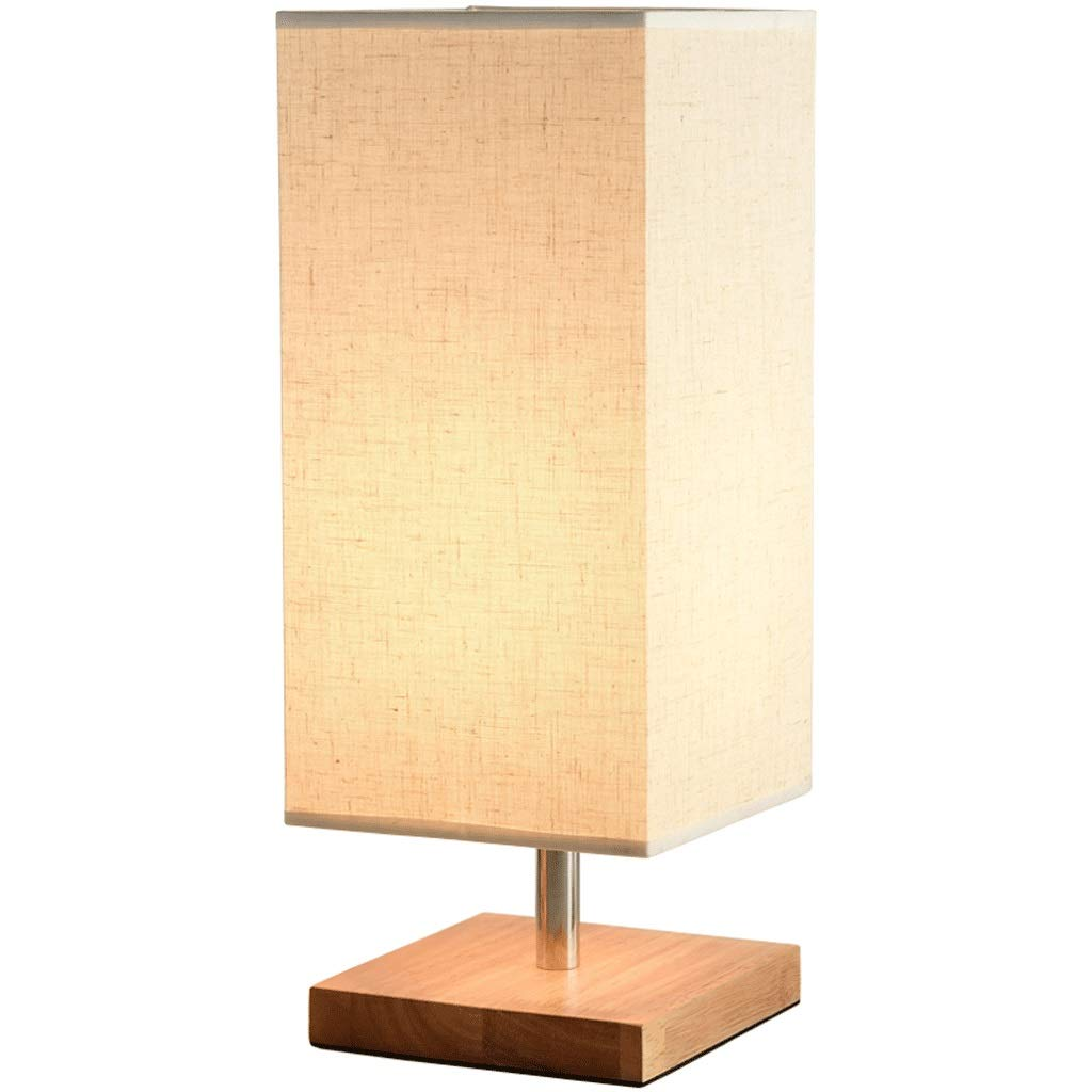 Modern Garden Bedside Table Lamp Decoration Solid Wood Japanese Study Room LED Warm Table Lamp Bedroom Creative Table Lamp (Color : B)