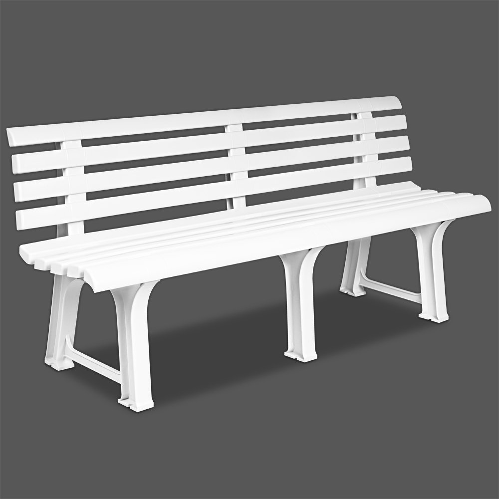 ProGarden - Panchina moderna bianca da esterni ORCHIDEA L 145 h 74 p 49 cm ORC18CBI