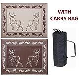 Stylish Camping PA1 Black/ Brown/ Beige 9'x12' Deer Mat