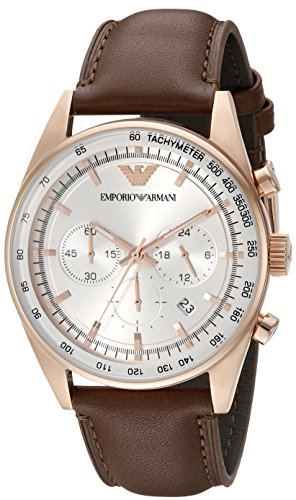 Emporio-Armani-Mens-AR5995-Sport-Brown-Leather-Watch