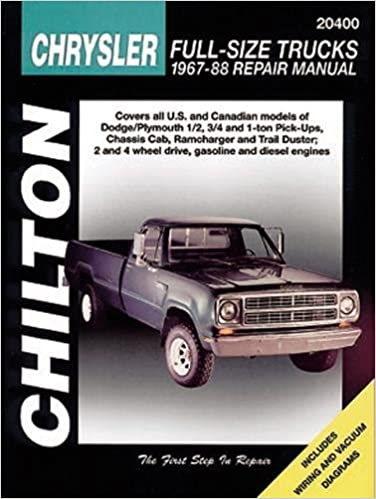 Chrysler full size trucks 1967 88 chilton total car care series chrysler full size trucks 1967 88 chilton total car care series manuals 1st edition fandeluxe Images