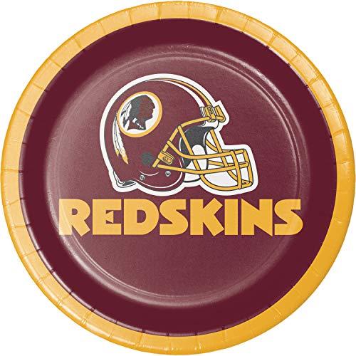 (Creative Converting Washington Redskins Dessert Plates, 24 ct)