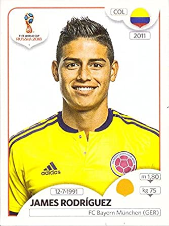 ffbf1ee900f Amazon.com: 2018 Panini World Cup Stickers #643 James Rodriguez Colombia:  Collectibles & Fine Art