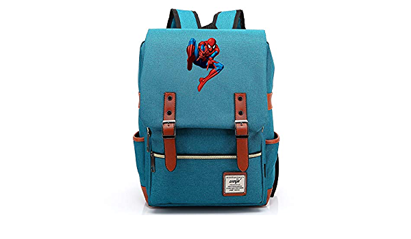 Spider-Man Mochila escolar para ordenador portátil para niños ...