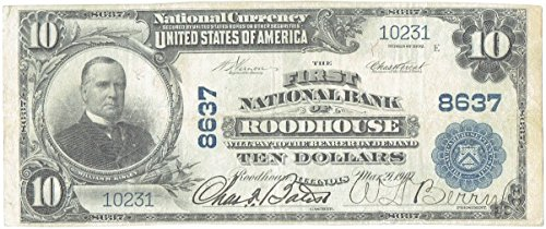 1902  10 Large Size United States National Currency Note