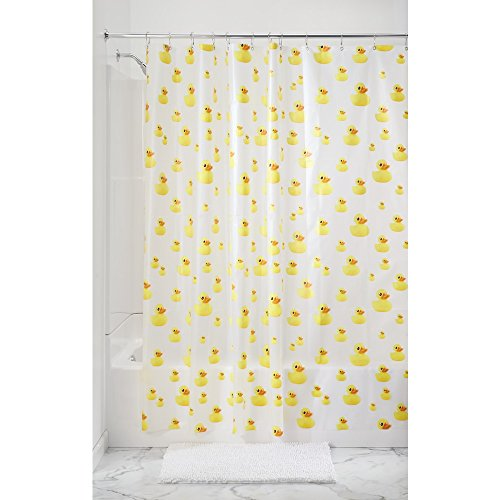 New Bath Ducks Vinyl Shower Curtain Rubber Ducky Waterproof Fast Shipping Ebay