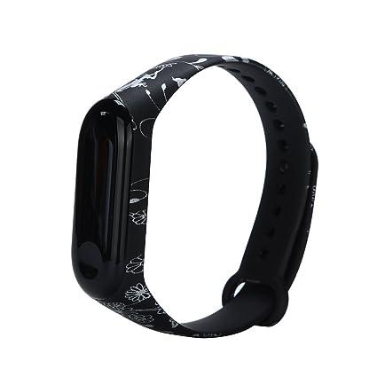 Zolimx Camuflaje Patrón TPU Muñeca Elegante Fitness Pulsera Correa de Reloj para Xiaomi Mi Band 3 Smartwatch (B-02)