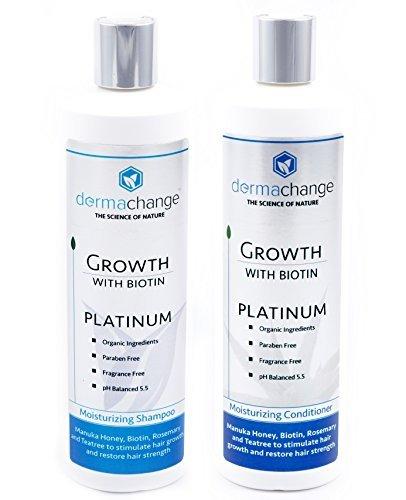 DermaChange - Champú y acondicionador para el crecimiento del cabello, con vitaminas, para hacer