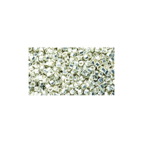 Miyuki Delica Hex Seed Bead 11/0 DBC0035, Silver Galvanized, 9-Gram/Pack ()