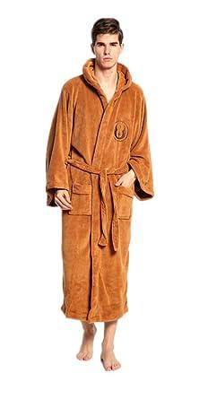 Star Wars Mens Jedi Costume Hooded Soft Towelling Robe Fleece Dressing Gown 19ce1c4b2