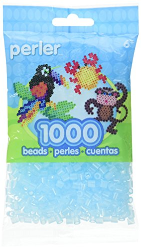 Perler Beads Fuse Beads for Crafts, 1000pcs, Clear Blue