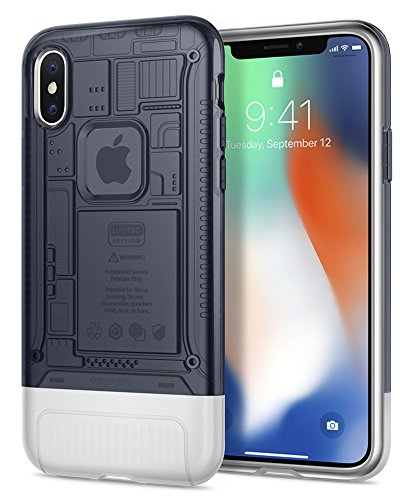 Spigen Classic C1 [10th Anniversary Limited Edition] iPhone X Case with Air Cushion Technology for Apple iPhone X (2017) - Graphite