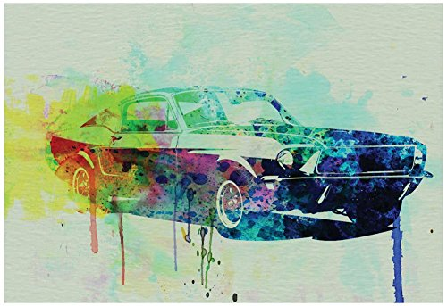 Ford Mustang Watercolor 2 Poster by NaxArt 19 x 13in from Poster Revolution