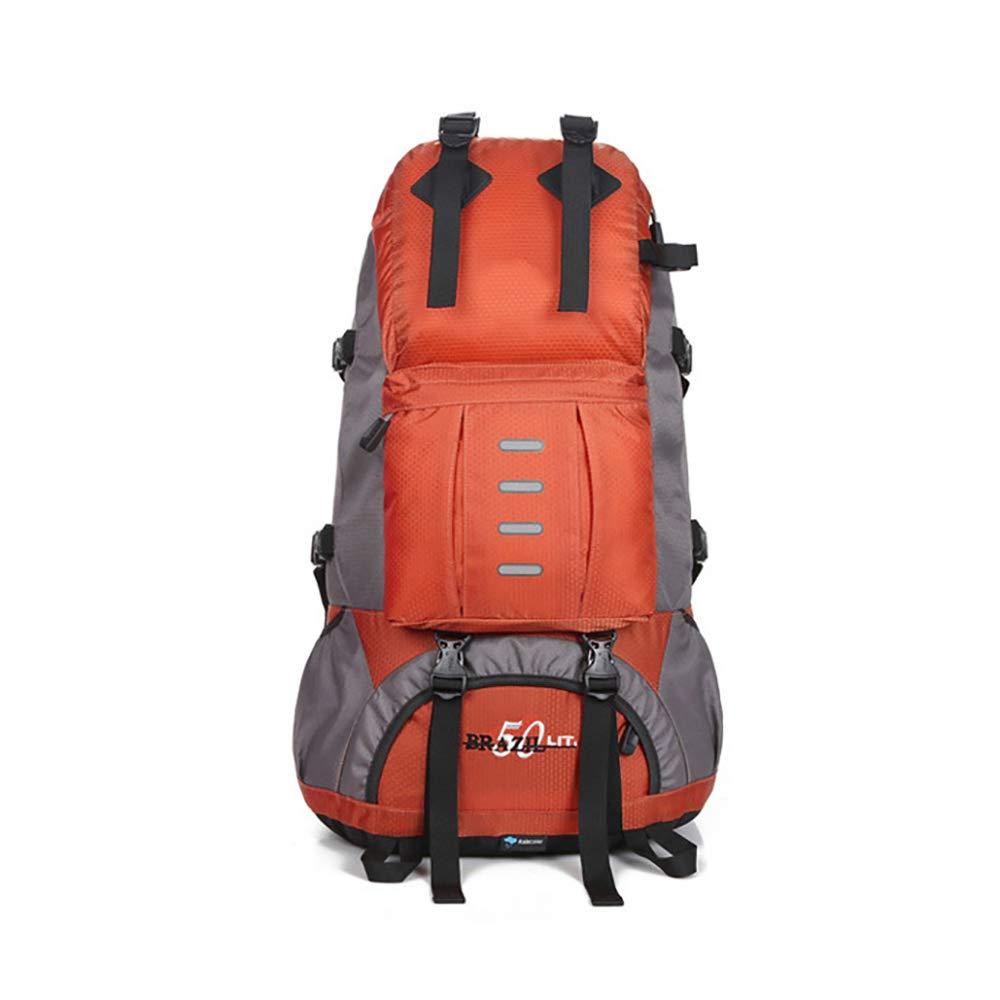 Orange  CXJC Sac à Dos De Randonnée Pédestre Nylon Water Resistang Randonnée Camping voyage Alpinisme pour Les Voyages Trekking Voyage Sac à Dos,jaune