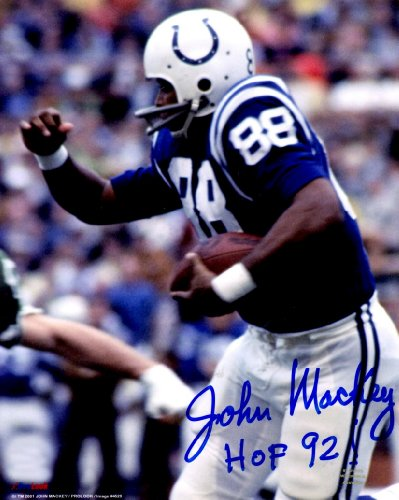 Autographed John Mackey 8x10 Baltimore Colts Photo