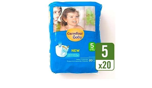 Carrefour bebé Ultra Dry Pull On tamaño 5 Carry Pack 20 por paquete caso de 4: Amazon.es: Bebé