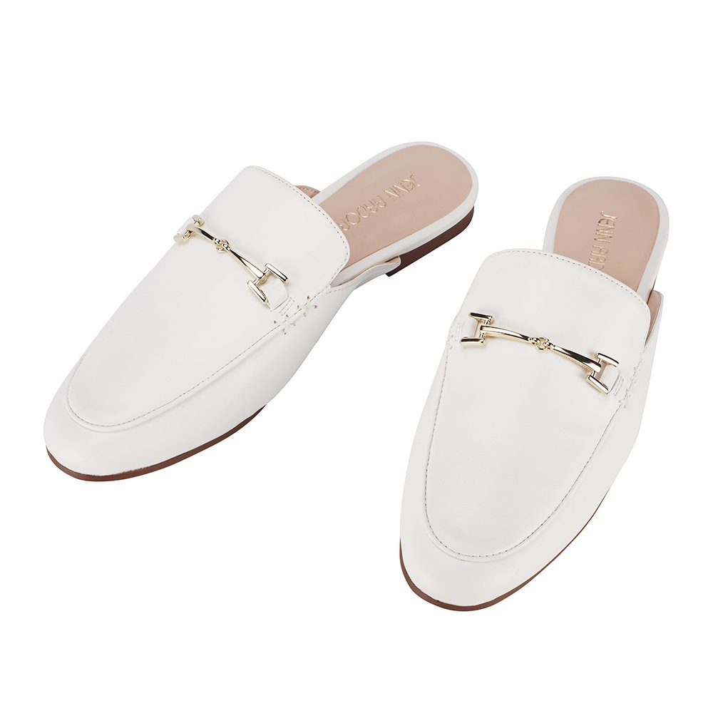 f7c6f60f8e23e Galleon - JENN ARDOR Women's Mule Flats Shoes Pointed Toe Backless ...