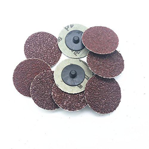 Assorted Set 30pcs//Set 2 50mm Mix Grit 24//36//40//60//80//120 Roloc Abrasive Pad Roll Lock Sanding Discs Type R roloc Fits for Abrasive