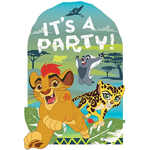 Amscan Disney The Lion Guard Postcard Invitations, Party Favor