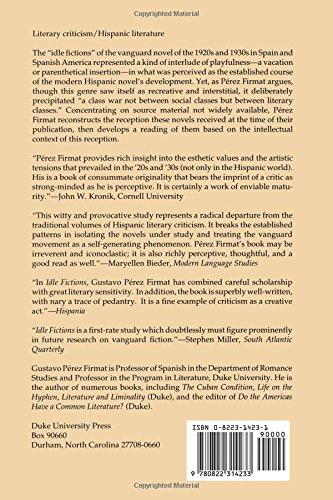 Idle Fictions: The Hispanic Vanguard Novel, 1926–1934, Expanded edition