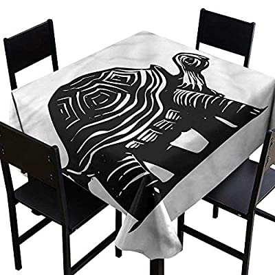 Turtle Washable Tablecloth Turtle Coral Reef Party Decorations Table Cover Cloth