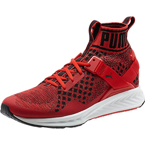 Puma Mens Ignite Evoknit Cross Trainer Shoe  High Risk Red Quiet Shade Black  11 M Us