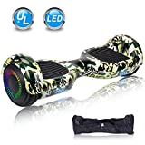 UNI-SUN 6.5'' Hoverboard for Kids, Two Wheel Self Balancing Electric Scooter, Hoverboard with LED Lights for Adults, UL 2272 Certified Hover Board(Classic Camo Green)